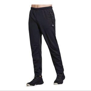 Men's Baleaf Fleece Lined Windproof Pants Black M